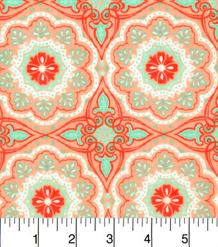 Snuggle Flannel Fabric-Ava Floral Medallion