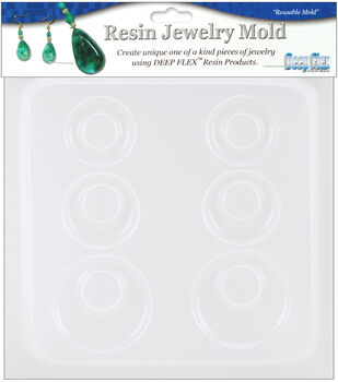 "Yaley Resin Jewelry Reusable Plastic Mold 6-1/2""x7""-Earrings 3 Pairs"