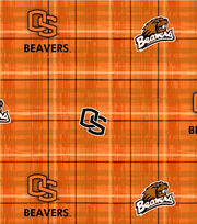 Oregon State NCAA Plaid Cotton Fabric, , hi-res