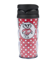 University of Wisconsin NCAA Polka Dot Travel Mug, , hi-res