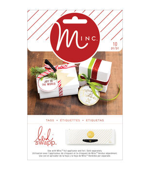 Heidi Swapp Minc Christmas Tags-Shaped, 10/Pkg