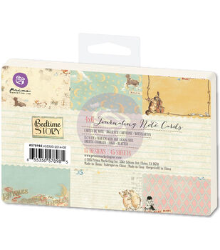 Prima Marketing Bedtime Story Journaling Notecards Pad 4''x6''