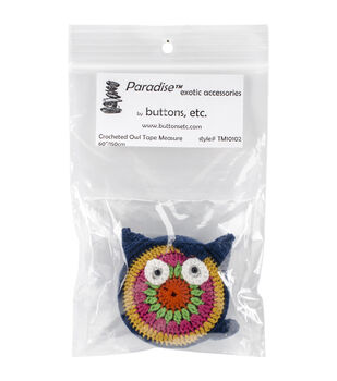 Paradise Exotic Owl Crocheted Tape Measure 60''