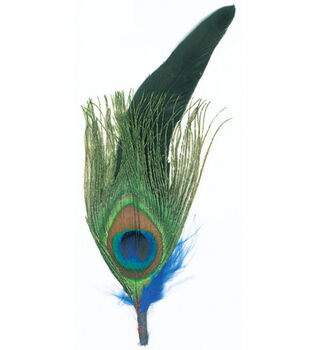 Natural Feather Pick-3PK/Peacock