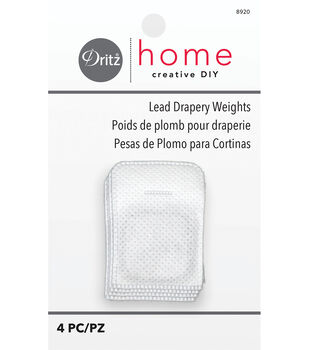 "Dritz Drapery Weights 1"" Square With Tab-4/Pkg"