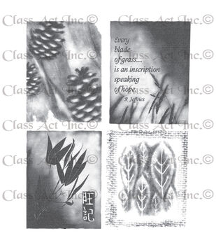 Class Act Chapel Road Cling Mounted Rubber Stamp Set Artishapes 1