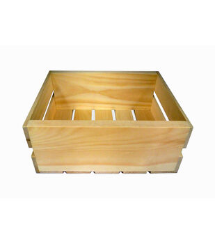 Wood Half Crate