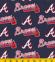 Atlanta Braves MLB Cotton Fabric, , hi-res