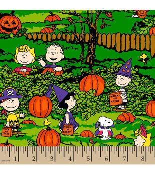Halloween Cotton Fabric-Peanuts Spooky Night