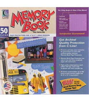 "Memory Book Top Loading Page Protectors 12""X12""-50 PK"