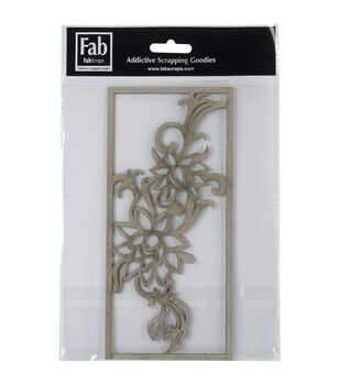 FabScraps Die-Cut Chipboard Embellishments-Large Lilly Filligree