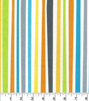 Nursery Cotton Fabric-Zoo Midtone Stripe