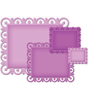 Spellbinders Decorative Elements Dies Fleur De Lis Rectangles, , hi-res
