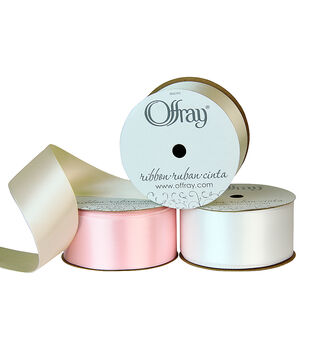 "Offray 1.5""x21' Double Faced Satin Solid Ribbon"
