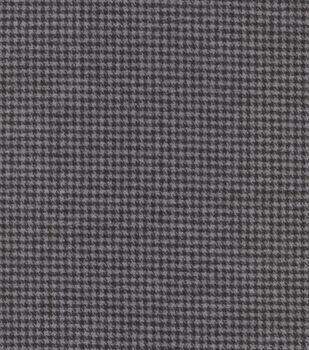 Plaid Brush Cotton-Brown Navy Gray