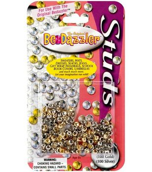 The Original BeDazzler Stud Refills 200/Pkg-100 Gold/100 Silver