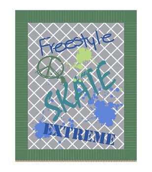 """48"""" No Sew Throw-Free Style"""