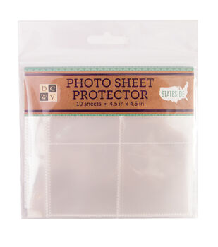 "DCWV Stateside 4-1/2""x4-1/2"" Photo Sheet Protectors"