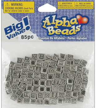 Big Value! Alpha Beads-Silver Plated