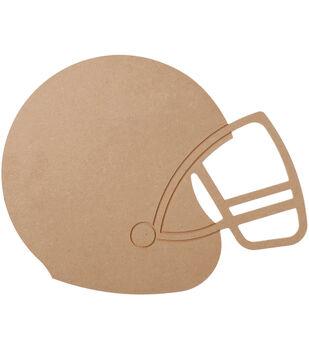 """MDF Wood Shape Football Helmet 9.1""""x11.6"""""""