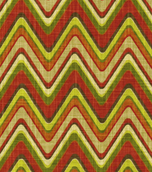 Waverly Print Fabric-Sand Art/Cayenne