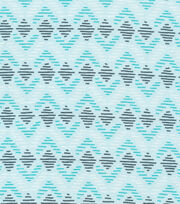 Cloud 9 Organic Cotton Knit Fabric-Diamond Lines Blue, , hi-res