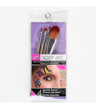 Tc Multi Body Art Brushes 4Pk