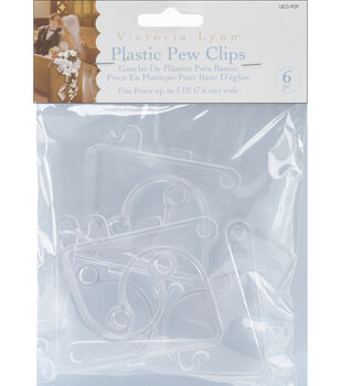 Plastic Pew Clips 6/Pkg-Clear