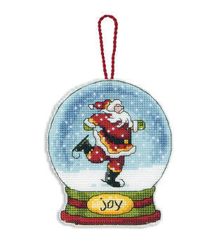 Dimensions Counted Cross Stitch Kit Joy Snowglobe