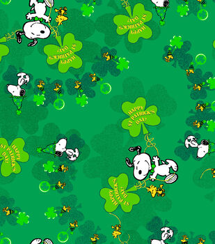 Holiday Inspirations Fabric-St. Patrick's Day Peanuts