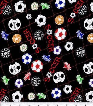 Novelty Cotton Fabric-Soccerball