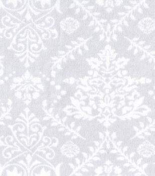 Snuggle Flannel Fabric - Mint Damask