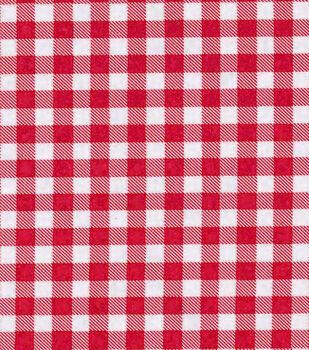 Oilcloth- Medium Gingham Red