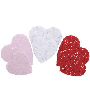 Stick It Felt Glimmer Shapes-Hearts 51/Pkg