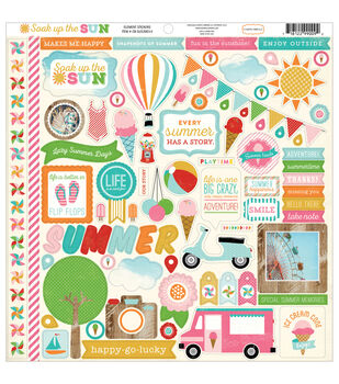 Carta Bella Soak Up The Sun Cardstock Stickers 12''x12''