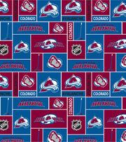 Colorado Avalanche NHL Block Fleece Fabric, , hi-res
