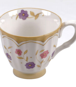 Susan Winget Tea Cup- Pink/Purple Floral