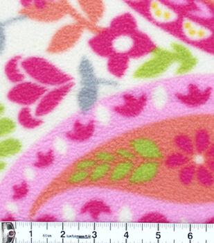 Anti-Pill Fleece Fabric-Summer Large Paisley