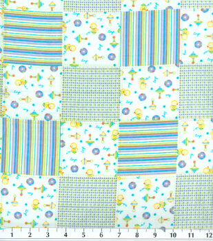 Snuggle Flannel Fabric-My Toy Patch