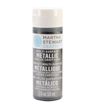 Martha Stewart Metallic Acrylic Craft Paint 2 Ounces-Gunmetal