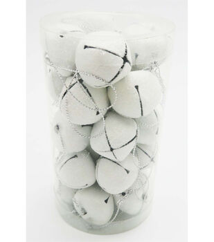 Maker's Holiday 30 Piece White 30mm Jingle Bells