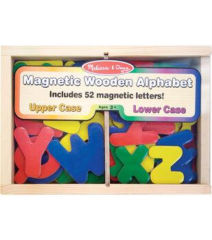 Melissa & Doug Wooden Magnet Set-Alphabet 52/Pkg