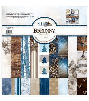 Bo Bunny Sleigh Ride 12''X12'' Collection Pack