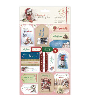 Docrafts Christmas With Wellington Die-Cut Sentiments