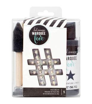 Heidi Swapp Marquee Love Distress Paint Kit-Zinc