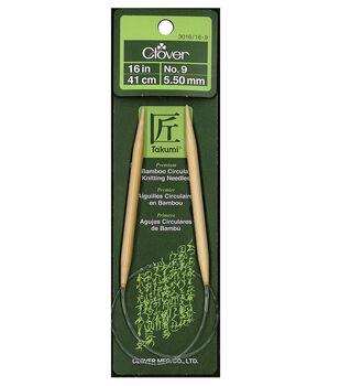 "Clover Bamboo 16"" Circular Knitting Needle-Size 9"