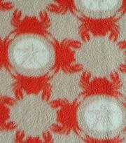 Nautical Fabric Sand Dollar Crab Fleece, , hi-res