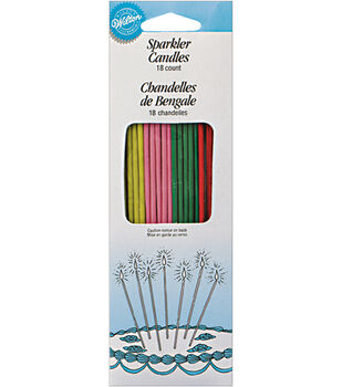 Wilton® Sparkler Candles 18/Pk-Yellow/Pink/Green/Red