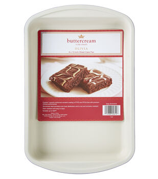 "Buttercream™ Olivia Collection Ceramic Metal 9x12"" Sheet Cake Pan"