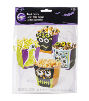 Wilton® Popcorn Box Kit 4/Pkg-Eyeballs